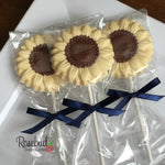 12 SUNFLOWERS Chocolate Lollipop Candy Party Favors Flowers