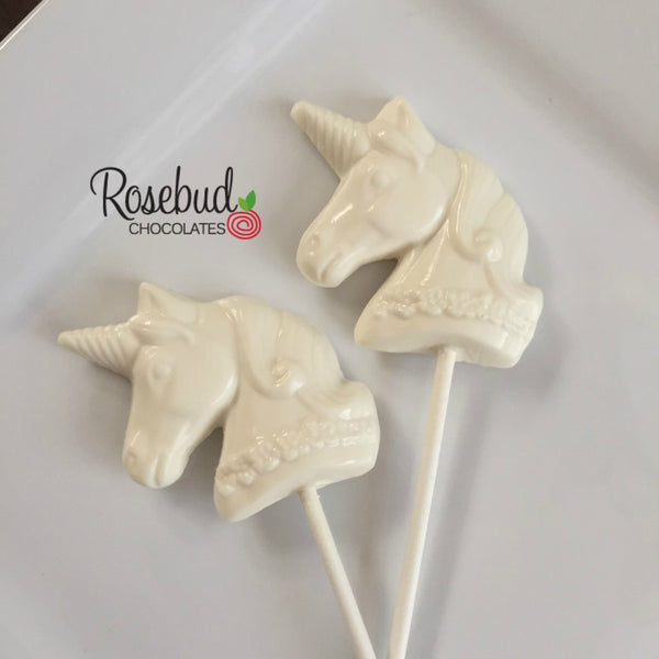 12 UNICORN Chocolate Lollipops Candy Birthday Party Favors