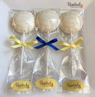 12 VOLLEYBALL Chocolate Lollipop Candy Sports Birthday Party Candy Favors