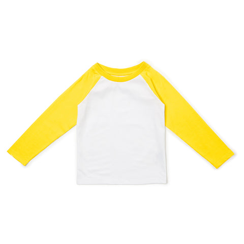 Baseball Tee - Yellow