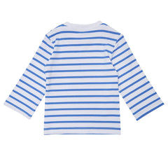 Blue Breton Stripe Top