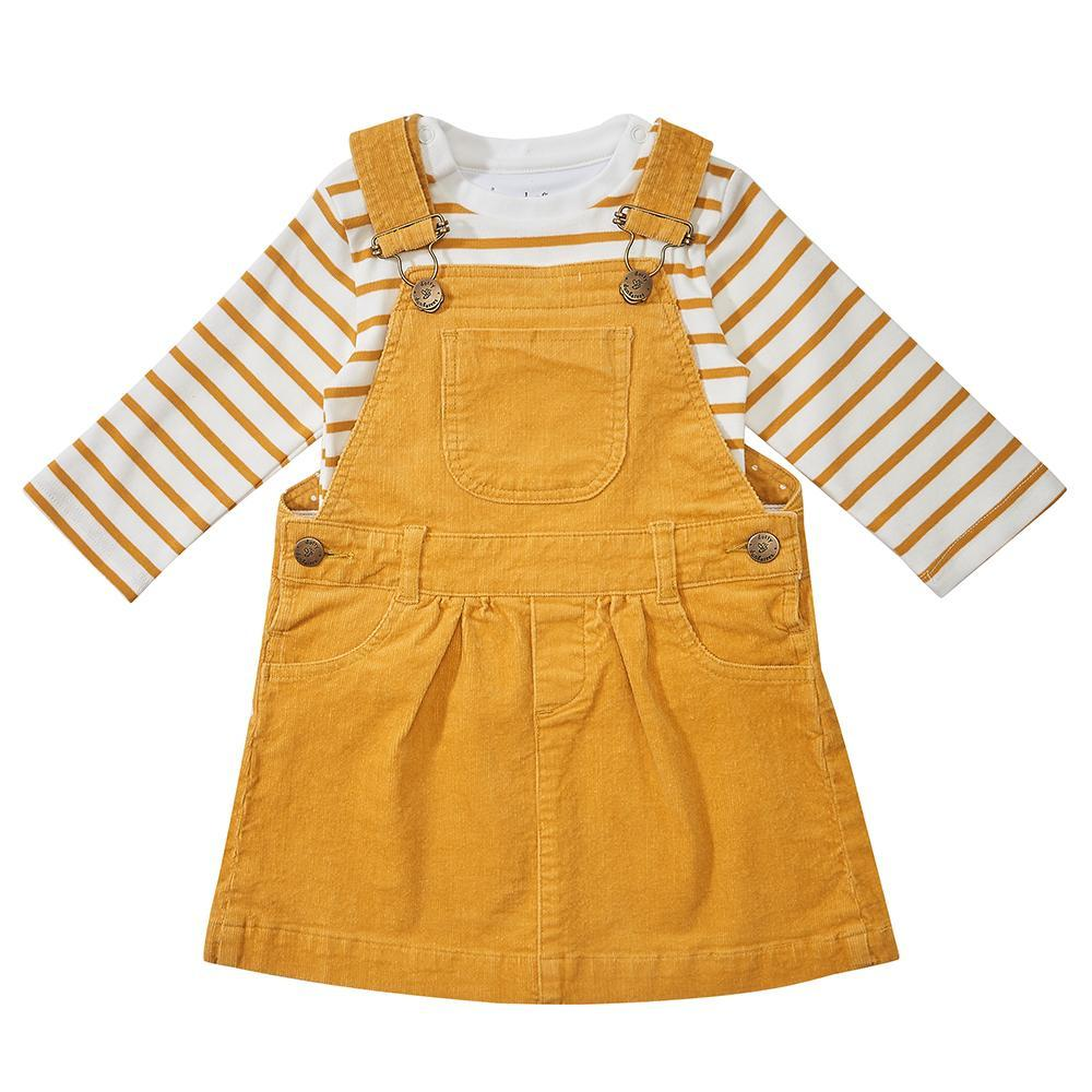 Ochre Corduroy Dress
