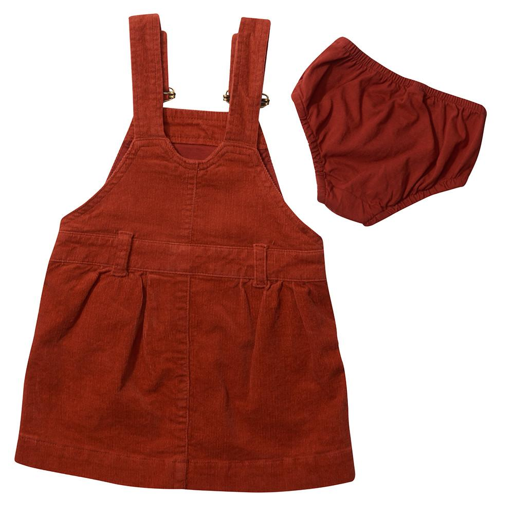 Brick Red Cord Dress