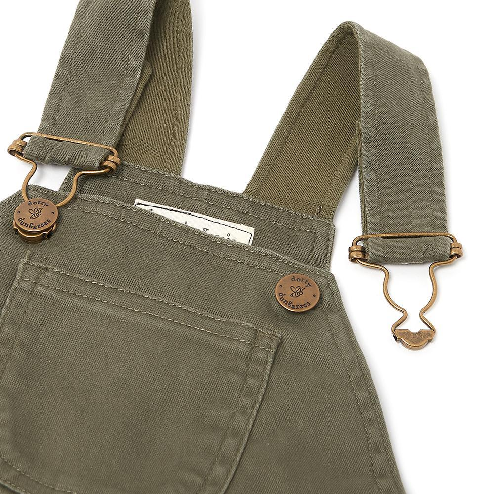 Olive Green Dungarees