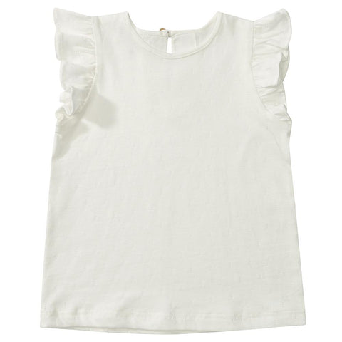 Edie Frill Top - White