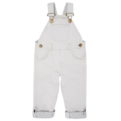 Cloud Grey Denim Dungarees