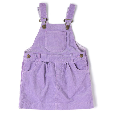 Lilac Corduroy Dress