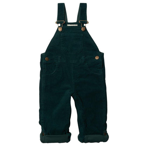 Moss Green Cord Dungarees