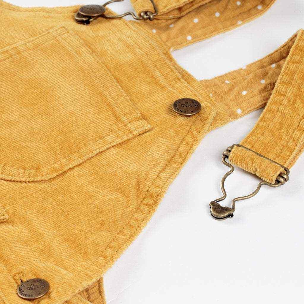 Yellow Gold Cord Shorts