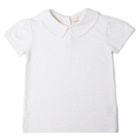 Peter Pan Short Sleeved T-Shirt - Pink Spot