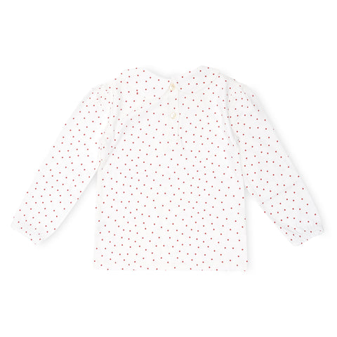 Peter Pan Collar - Red Dot