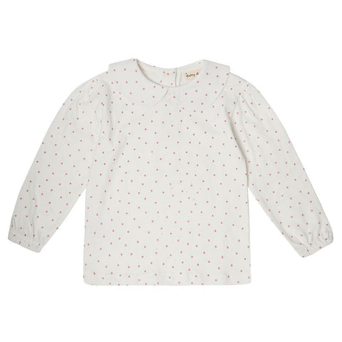 Peter Pan Collar - Pink Dot