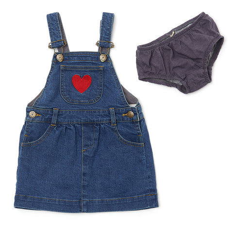 Stonewash Denim LOVE Dress