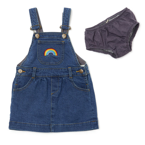 Stonewash Denim RAINBOW Dress