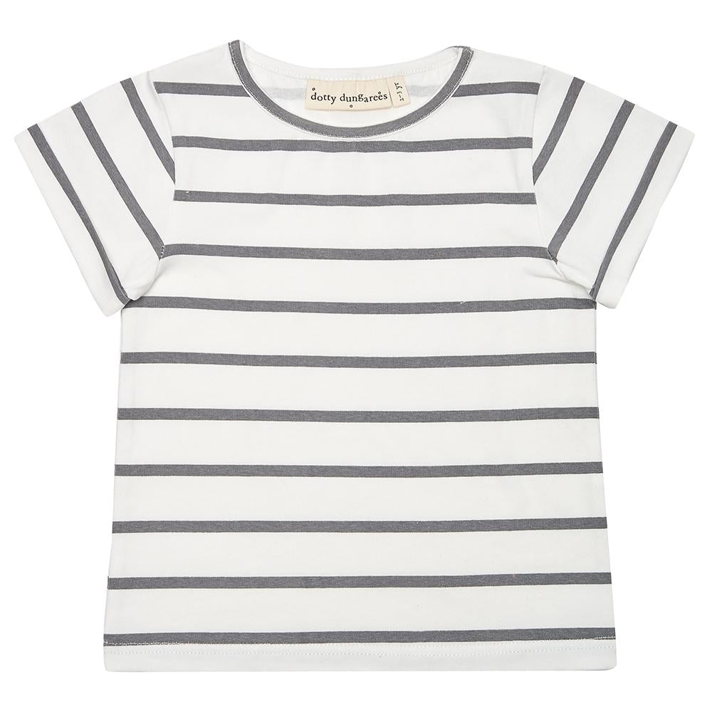 Grey Stripe Summer T-Shirt