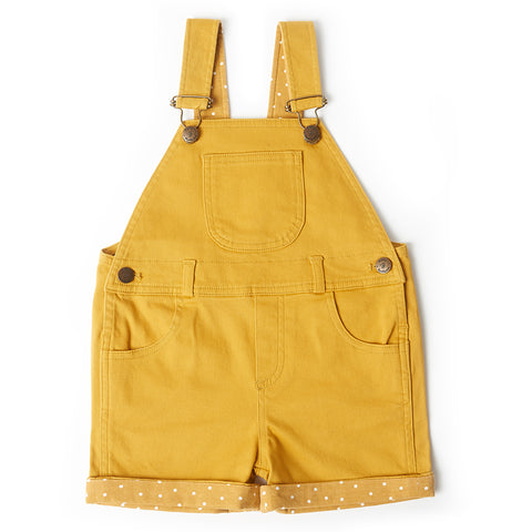 Yellow Denim Shorts