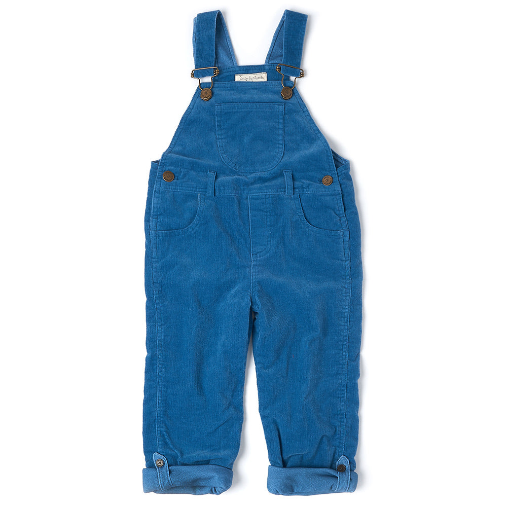 Nordic Blue Cord Dungarees