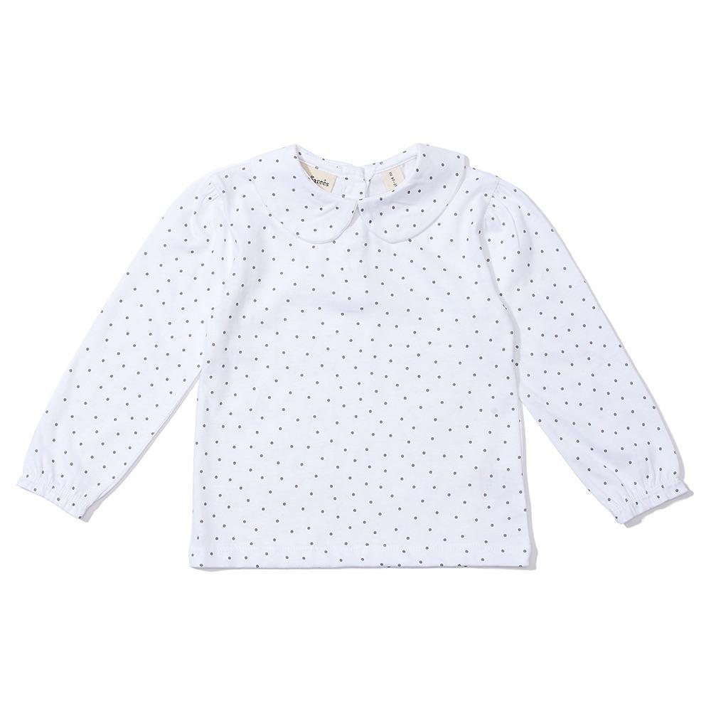Peter Pan Collar - Grey Dot