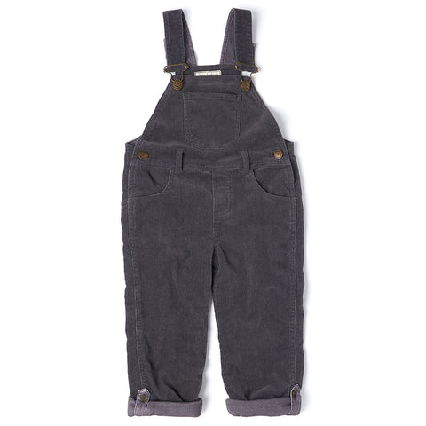 Charcoal Cord Dungarees