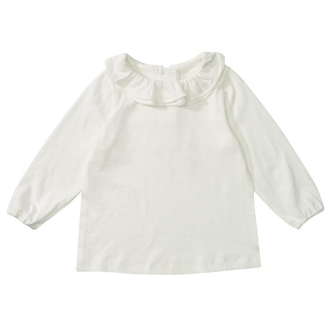Margaux Ruffle Neck - White