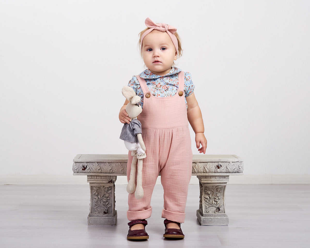 Double Gauze Dusty Pink Romper