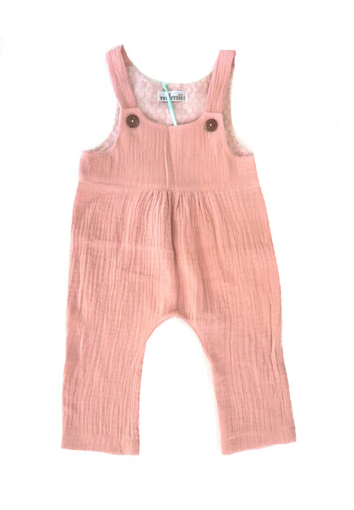 Double Gauze Dusty Pink Romper For Babies | Gabri Isle