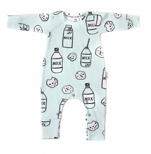 Long Sleeve Milk Romper