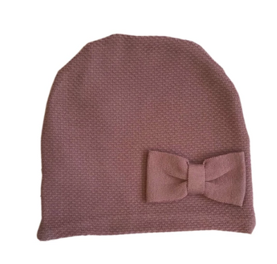 Dark Rose Knit Hat For Babies  | Gabri Isle