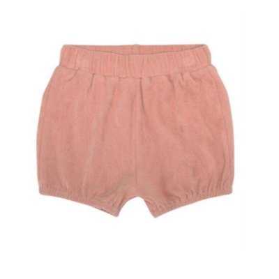 Rose Velour Shorts