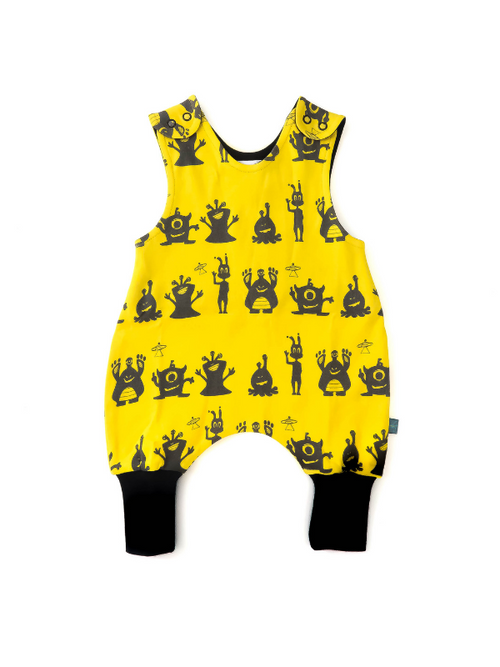 Yellow Alien Romper For Babies | Gabri Isle