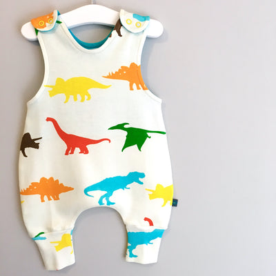 Colorful Dinosaur Romper