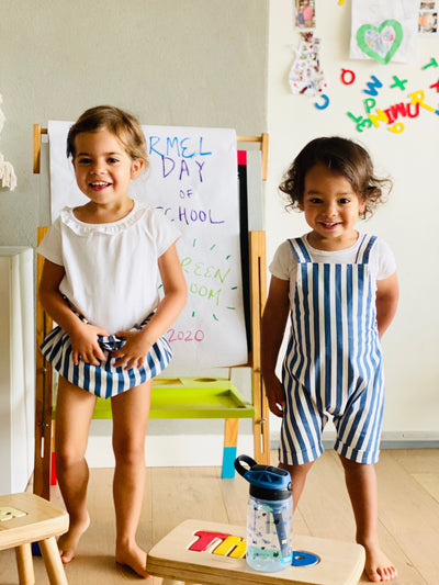 Striped Dungarees For Babies | Gabri Isle