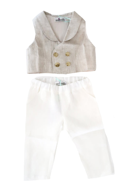 Special Occasion Outfit - Vest & Pants For Babies | Gabri Isle
