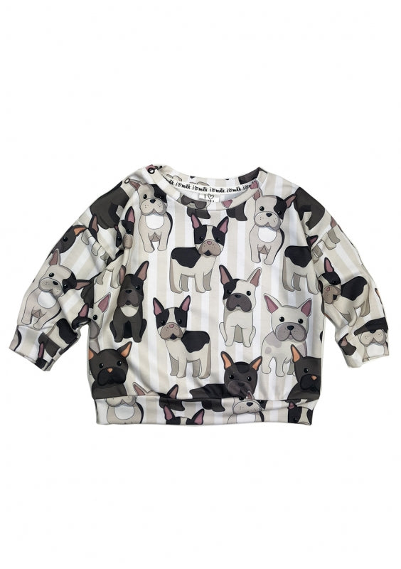 kids french bulldog sweatshirt