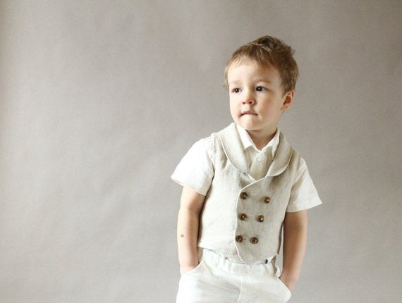 Baby Boy Special Ocassion Outfit - Vest & Pants