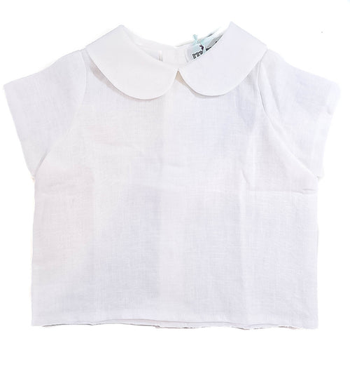 White Peter Pan Collar Top