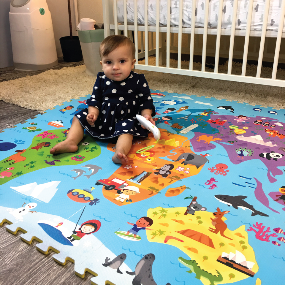 Creative Baby 9 Piece Interactive Playmat i-Mat™, Around the World
