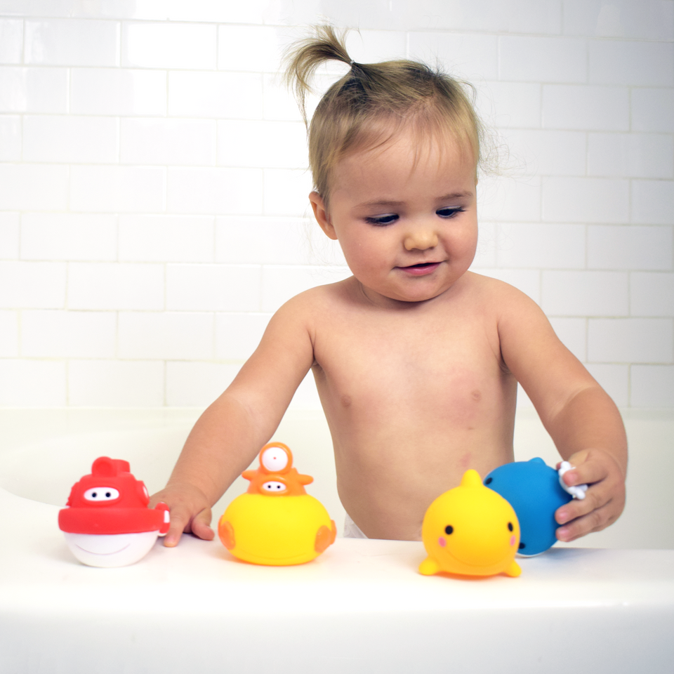 Guppy & Friends Bath Squirters (5 LARGE PIECES)