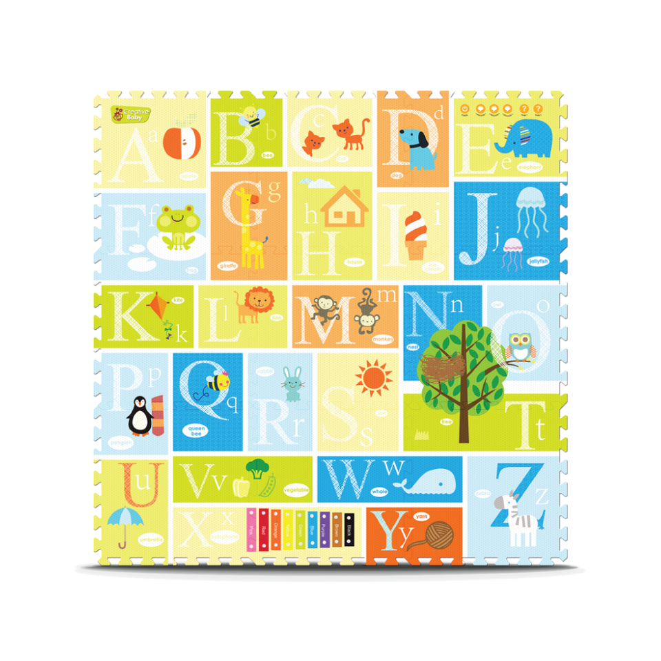 Creative Baby 9 Piece Interactive Playmat i-Mat™, Alphabet