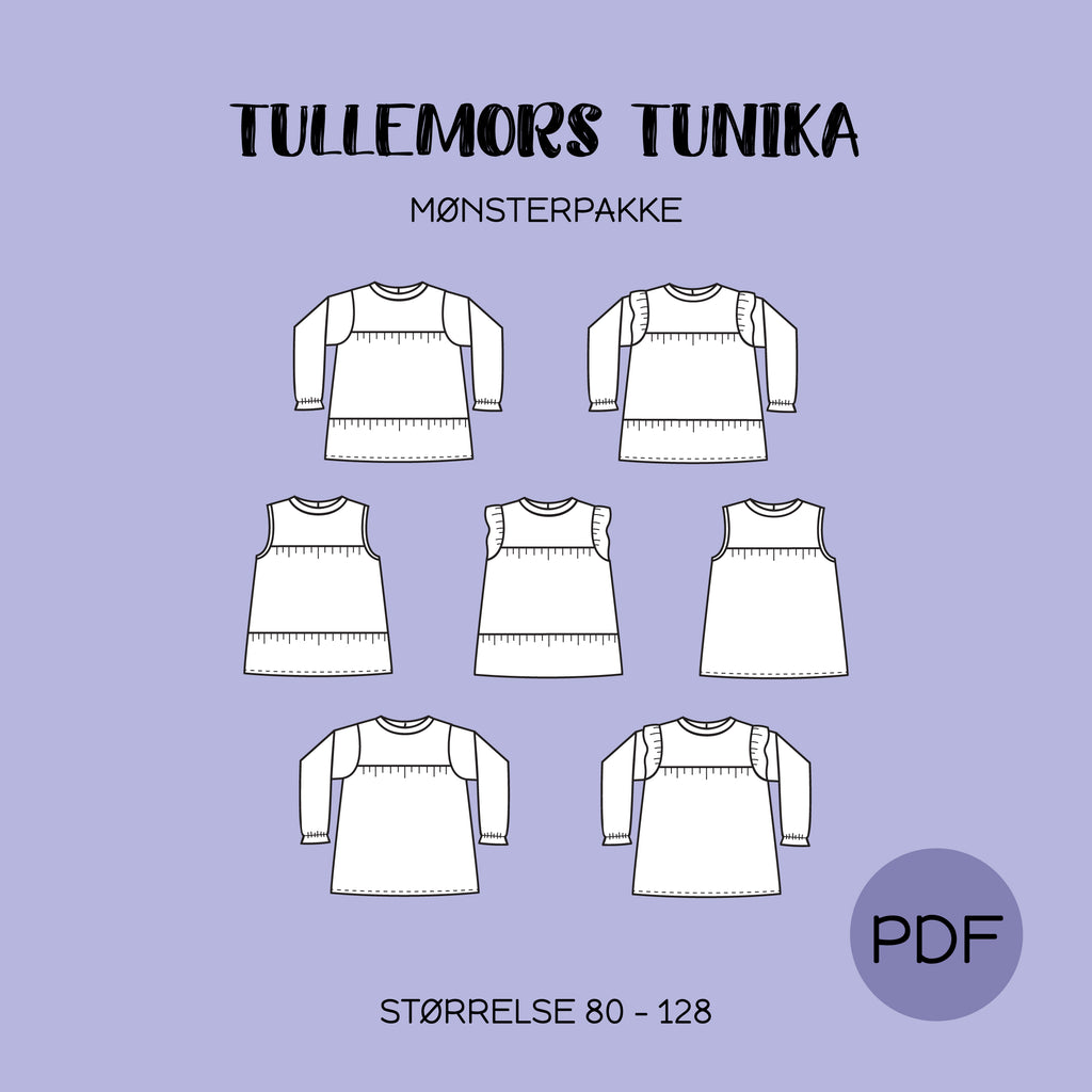 Tullemors Tunika - Mønsterpakke - PDF