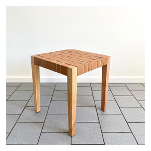 Parlour Collab - Leather Braided Side Table