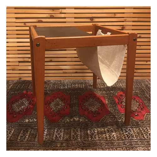 MCM Side Table with Magazine Holder