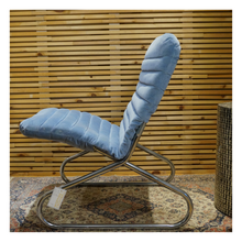 Load image into Gallery viewer, Blue Velvet Space Age Chair
