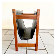 Load image into Gallery viewer, Parlour Collab - Teak Mid-Century Modern Magazine Holder