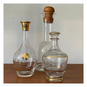 Small Decanter with Gold Flowers