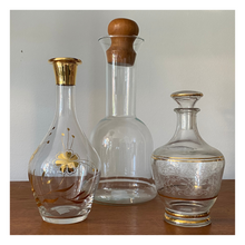 Load image into Gallery viewer, Small Decanter with Gold Flowers