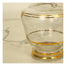 Load image into Gallery viewer, Clear Glass Decanter with Gold Ring Pattern