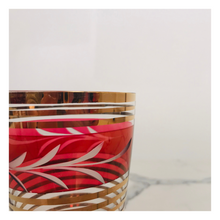 Load image into Gallery viewer, Set of 3 Pink Honey Comb Glasses