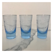Load image into Gallery viewer, Set of 3 Depression Glass Shot Glasses