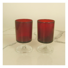 Load image into Gallery viewer, Set of 4 Red Cavalier Cristal d'Arques Glasses